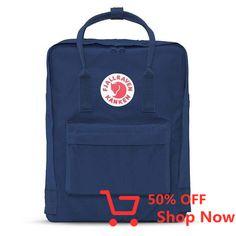 Shop this classic Kanken backpack for style and function. This Kanken backpack features the Fjallraven Kanken logo on front and adjustable shoulder straps. Mochila Kanken, Kanken Backpack, Walk In, Looks Style, School Backpacks, Backpacker, Fasion, Women's Fashion, Fashion Trends