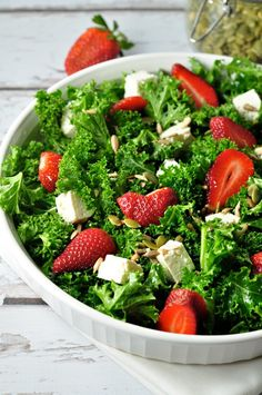 Strawberry Kale Salad with Poppy Seed Dressing