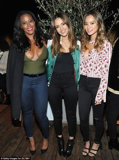Picture perfect: Actresses Nichelle Hines, Jessica Alba and Jamie Chung smiled for the cam...