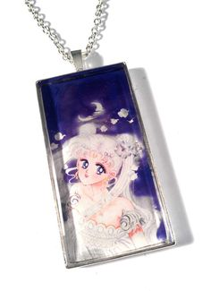 Princess Serenity Sailor Moon Resin Pendant by JujusCrafts on Etsy, $16.00