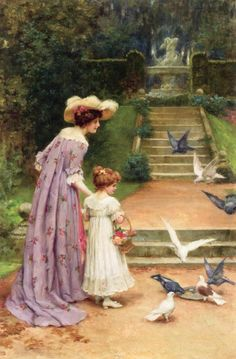 Feeding the Doves | George Sheridan Knowles, English, 1863-1931