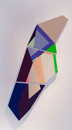 Geometric Sculptural Paintings by Zin Helena Song
