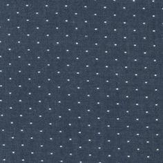 Cotton Chambray Dots - Indigo
