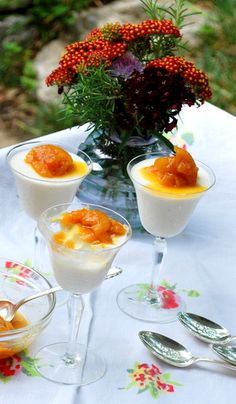 Good Food Matters » Blog Archive » Crazy-Easy, Crazy-Good: Greek Yogurt Panna Cotta with apricot-cardamom-candied ginger sauce