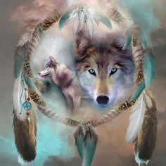 Wolf Crystal 5D Square Diamond Painting