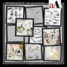 Limited Edition DSD Holiday ValuePack No. 1This Limited Edition Holiday-themed collection of my supplies has been hand-selected to coordinate with the Project Template Album No. 1 to create your own custom Holiday project. #scrapbook #digiscrap #digitalscrapbooking #photoshop #digitalphotographer #photographer #collage #artjournal #crafts #art #photoedit #photosharing