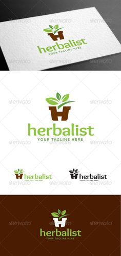 Herbalist Letter H Logo Template