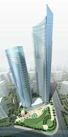 Shimao Olympic Center, Qingdao, China :: 75 floors, height 335m