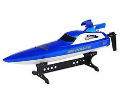 POCO DIVO 2.4Ghz Power Racer RC Racing Boat High Speed Self-righting Remote Control Electric Sports Champion Ship with Anti-crash Rubber Hat – Blue review
