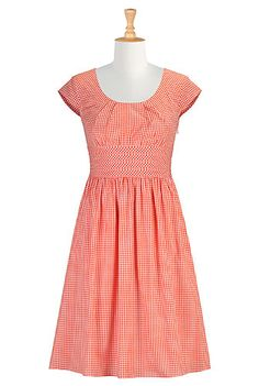 eshakti gingham check dress- customizable clothes (overstocks are not, but the sale page are)