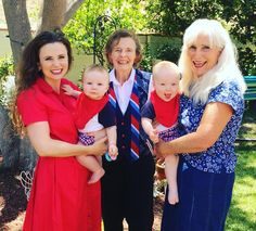 Happy first 4th of July to the Dunham boys! Here with Mommy, Great Grandma and Grandma <3