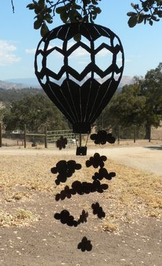 Up Up & Away Hot Air Balloon and Clouds Metal by FoothillMetalArt, $55.00