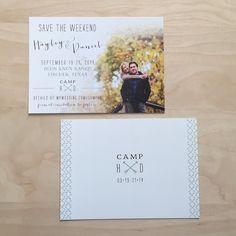 Custom Camp Theme Save the Date