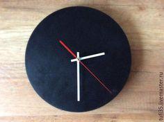 Часы для дома ручной работы. Ярмарка Мастеров - ручная работа. Купить Часы для рисования мелом. Handmade. Черный, рисование мелом