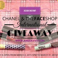 Chanel & The Face Shop International Giveaway (March 2015) ^_^ http://www.pintalabios.info/en/fashion-giveaways/view/en/3190 #International #MakeUp #bbloggers #Giweaway