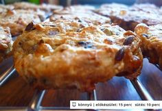 Csípős ötmagos keksz Healthy Cookie Recipes, Healthy Cookies, Muffin, Pie, Bread, Breakfast, Desserts, Food, Drink