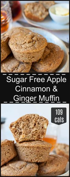 Healthy and light apple, cinnamon and ginger muffins, sweetened naturally with stevia. Just 109 calories per serve, this is the perfect morning stack to have with your coffee!