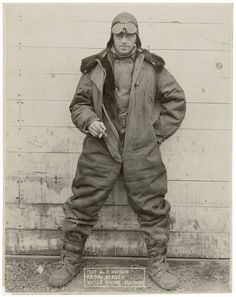 """""""Pilot Wm. C. Hopson, U.S. Mail Service Winter Flying Clothing""""  Posted by Charles McCain, author of AN HONORABLE GERMAN.  """"A truly epic and stirring tale of war, love, and the sea…"""" says bestselling author, NELSON DeMILLE  To Buy Your Copy In Hardback, Paperback or Kindle— CLICK HERE: http://www.charlesmccain.com/about-charles-mccain.html"""