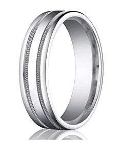 Benchmark Designer 950 Platinum 6mm Comfort Fit Men's Wedding Ring with Parallel Milgrain Accent Lines and Polished Finish  http://electmejewellery.com/jewelry/wedding-anniversary/wedding-rings/benchmark-designer-950-platinum-6mm-comfort-fit-men39s-wedding-ring-with-parallel-milgrain-accent-lines-and-polished-finish-com/