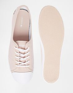 Image 3 of Lacoste Ziane Pink Plimsoll Trainers