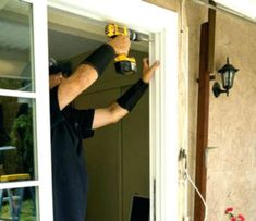 New doors have become more affordable and efficient, making the choice to replace a sliding glass door with a new one a cost-effective option. Replacing Front Door, All About Doors, Window Repair, Sliding Glass Door, Glass Doors, Glass Repair, Door Seals, Types Of Doors, Easy Paintings