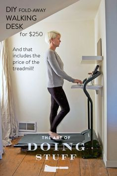DIY walking desk for $250. And that includes the treadmill!  | The Art of Doing Stuff