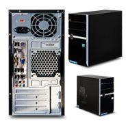 WORKSTATION - SPECIFICATIONS:  Chassis Supermicro CSE-743TQ-865B-SQ;  Motherboard Supermicro MBD-X9SRL-F;  CPU Intel XEON E5-2603;  RAM Kingston KVR1333D3N9/4Gb;  Hard Disk SATA III Western Digital 2 TB;  DVD burner;  Software Windows 8 64 bit
