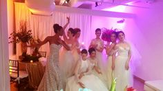 Ballerinas Brides! These young ladies are living every little girl's dream. Bridalwear courtesy of Pas de Deux Bridal.