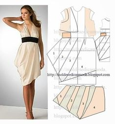 Free sewing pattern for a halterneck dress. More free sewing patterns at http://www.sewinlove.com.au/free-sewing-patterns/