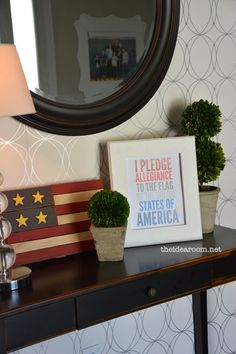 Red, White & Blue Fourth of July Printable - The Idea Room Patriotic Crafts, July Crafts, Patriotic Decorations, Holiday Decorations, 4th Of July Celebration, 4th Of July Party, Fourth Of July, Mason Jar Vases, Red White Blue