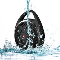 Amazon.com: SoundDew Wireless Water resistant Portable Speakers Bluetooth Shower Speakers Mic Hands Free Phone Calls Black: Electronics
