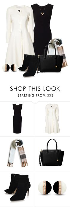 """""""Winter Professional Wardrobe Capsule: Outfit 7"""" by vanessa-bohlmann ❤ liked on Polyvore featuring Roland Mouret, Carolina Herrera, Chicwish, MICHAEL Michael Kors and Louis Vuitton"""