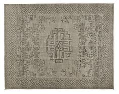 Inspired by Chinese carpets from the late 18th century, our hand-knotted Amira rug features a center medallion surrounded by lotus flowers and a border pattern taken from traditional Chinese fretwork. Equally at home in modern or classic spaces, the thick yarns and versatile colors give it a timeless appeal. The dyeing and finishing techniques used add a vintage look, subtle sheen and one-of-a-kind variations in color and texture. Please note that shedding is a natural occurrence in…