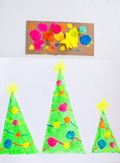 Here is a blog post on how to make Beautiful Christmas Tree Art that your kids will enjoy :)