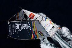 Le bateau SynerCielde Jean Le Cam dans le Vendée Globe 2012 (Photo de Jean-Marie Liot / DPPI)