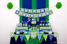 ♥ Vintage Green Train Birthday Party Theme ♥ II Shop Here: https://www.etsy.com/shop/LeeLaaLoo/search?search_query=b96&order=date_desc&view_type=gallery&ref=shop_search II Party Styling: LeeLaaLoo - www.leelaaloo.com  II Party Printable Design & Decoration: LeeLaaLoo - www.etsy.com/shop/leelaaloo