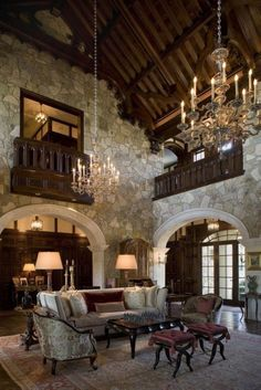 Tuscan style – Mediterranean Home Decor Medieval Bedroom, Medieval Home Decor, High Ceiling Decorating, Tuscan Decorating, Decorating Ideas, Decor Ideas, Minimalist Home Interior, Home Interior Design, Interior Livingroom
