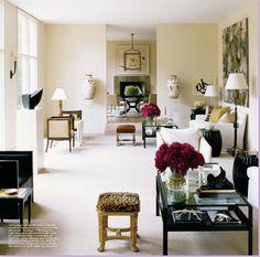 Designer J. Randall Powers in Elle Decor. Living Room, Room, Interior, Interior Inspiration, Decor Interior Design, House Styles, Home Decor, House Interior, Elle Decor