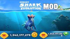Hungry Shark Evolution Mod APK unlimited money & gems 2020 Species Of Sharks, Evolution, Android, Gems, Ocean, Hacks, Money, Silver, Rhinestones