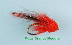 Mugs Orange Muddler Fly - FlyFishing with Fish4Flies.com