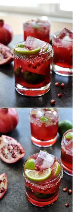 Pomegranate Margaritas I howsweeteats.com