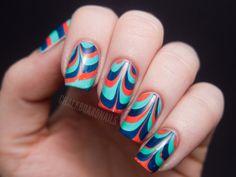 Prom Nail Art Idea: Retro Marble