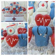 Nurse Cake Pops - 12 Pops  - Medical Cake Pops - Edible Favors on Etsy, $48.00