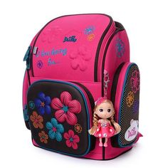 22504f7109 2018 Brand Delune Chilren School Bags for Girls 3D Printed Waterproof Orthopedic  Kids Backpack Girls Boys Mochila Infantil