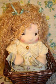 Perle 8 Darling Waldorf doll by Faridulka on Etsy, $115.00