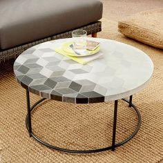 Mosaic Coffee Table- Isometric Concrete