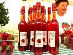 Strawberry Dessert Wine at the Spring Strawberry Festival in #Mgarr, Malta.