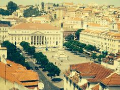 View of the Praca do Rossio - Lisbon, Portugal