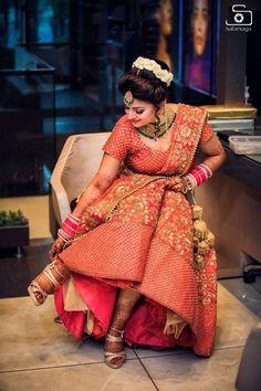 "Photo from Safarsaga Films ""Safarsaga Films - Best Wedding Photographer in Chandigarh - Mehak & Jaspreet"" album Wedding Lehnga, Indian Wedding Bride, Bridal Lehenga, Lehenga Gown, Saree, Wedding Wear, Indian Bridal Photos, Indian Bridal Outfits, Wedding Dresses For Girls"