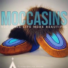 #Moccasins you make life more #beautiful.  Made by moccasin maker Rosa Wedzin #Tlicho #elder of #Behchokǫ̀.